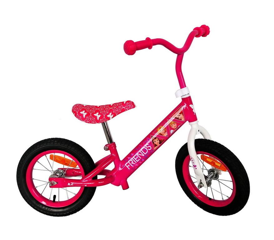 Детский велобег PR171204 Принцессы стальная рама, колеса 12''