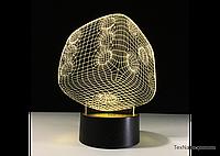 """Светодиодный LED ночник """"Игральная кость"""" 1095, оригинальная 3D лампа"""