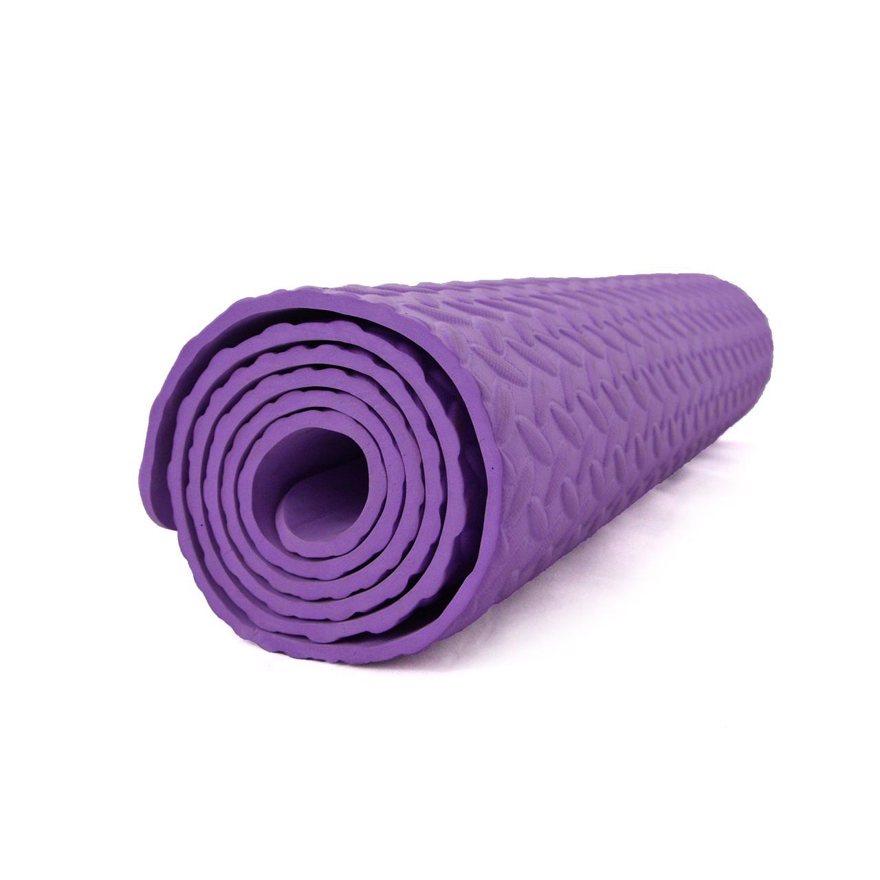 Килимок (мат) для йоги та фітнесу EVA OSPORT 8мм (MS 1088) Фіолетовий