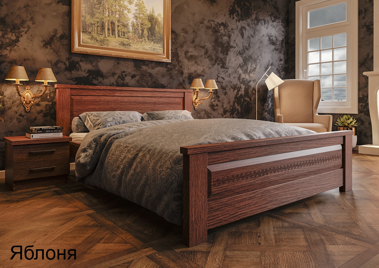 Кровать деревянная двуспальная NEW Элит 160х200