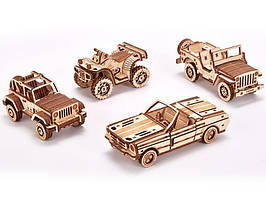 Конструктор деревянный Набор автомобилей Wood trick