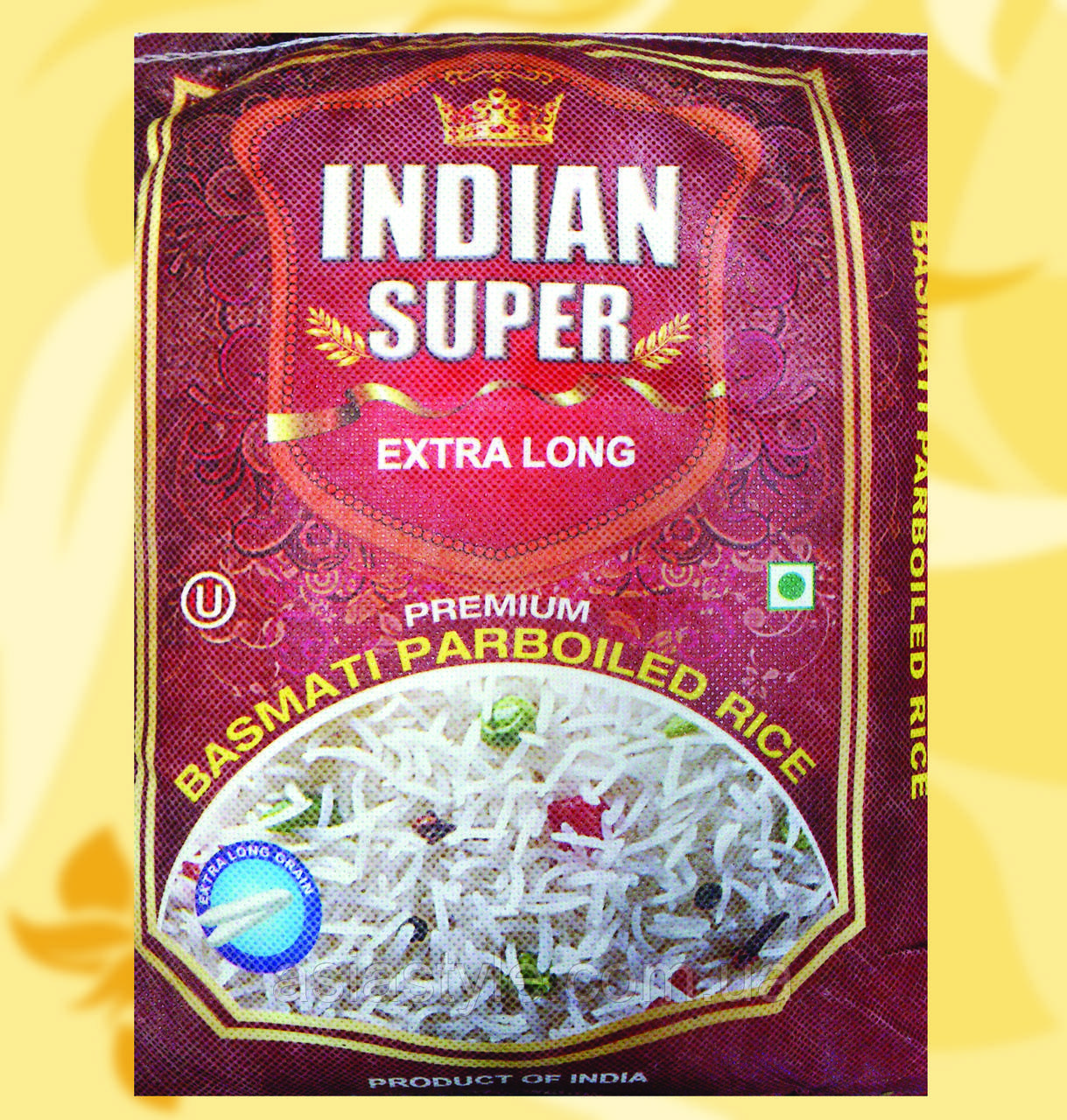 Рис, Indian Super Extra Long, пропарений, 5кг, Во