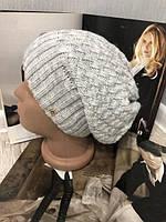 Женская зимняя шапка на флисе 002D/01