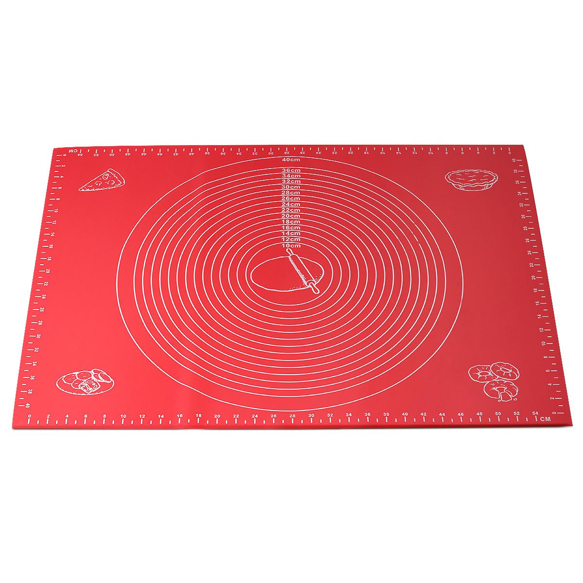 Коврик силиконовый Kamille 60х45 см для раскатки теста и выпечки KM-7786