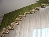 Жесткий ламбрекен Эксклюзив, 2,5м золото с зеленью, фото 3