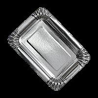 Тарелка картонная Серебро 15*22см 100шт/уп (1ящ/10уп/1000шт)