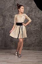 Подростковое нарядное платье р.140-158 золото
