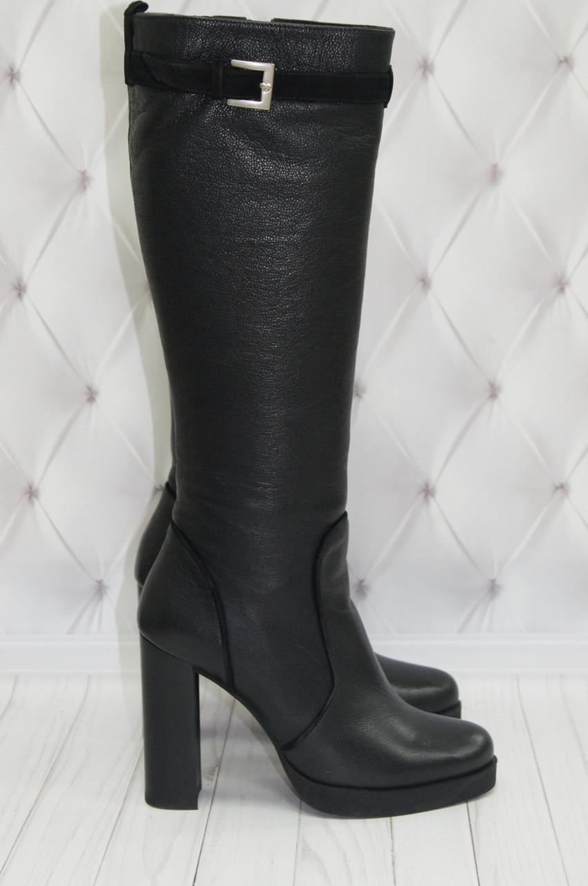 a65f6fa2c3e8 Сапоги женские зимние кожаные на каблуке Tucino