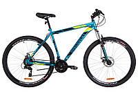 "Велосипед 29"" Discovery TREK AM 14G DD St 2019 (малахитовый с желтым (м))"