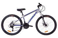 """Велосипед 26"""" Formula THOR 1.0 AM 14G DD Al 2019 (серо-синий с салатным (м))"""