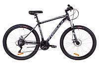 """Велосипед 27.5"""" Formula THOR 1.0 AM 14G DD Al 2019 (черно-серый с белым (м))"""