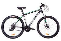 """Велосипед 27.5"""" Formula THOR 2.0 AM 14G DD Al 2019 (черно-зеленый (м))"""