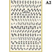 Наклейки для Ногтей PhotonailArt Водные Однотонные, Большая Пластина, Angevi  А2