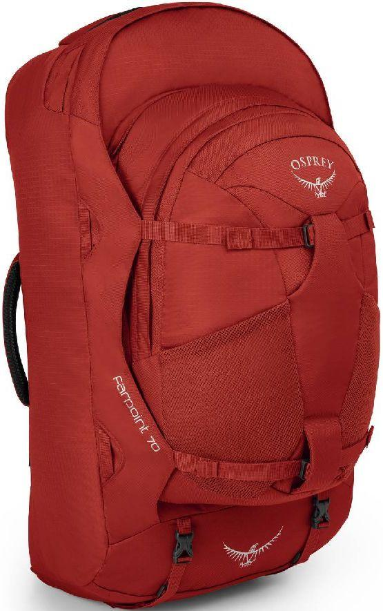 Рюкзак для путешествий Osprey Farpoint 70 Jasper Red M/L, 70 л, красный