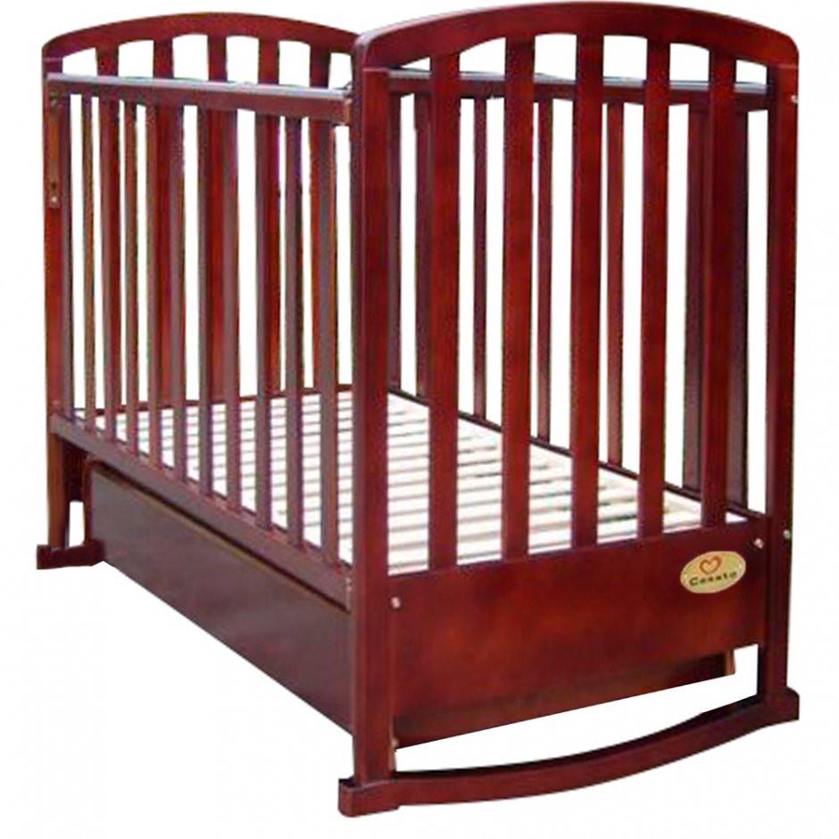 Детская кроватка Casato BC-500 орех