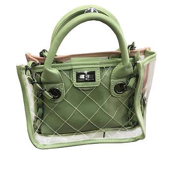 Женская сумка lady bag A Зелёная D100
