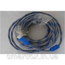 Кабель HDMI круглий 1.4 v 20м, фото 2