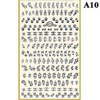Наклейки для Ногтей PhotonailArt Водные Однотонные, Большая Пластина, Angevi  А10