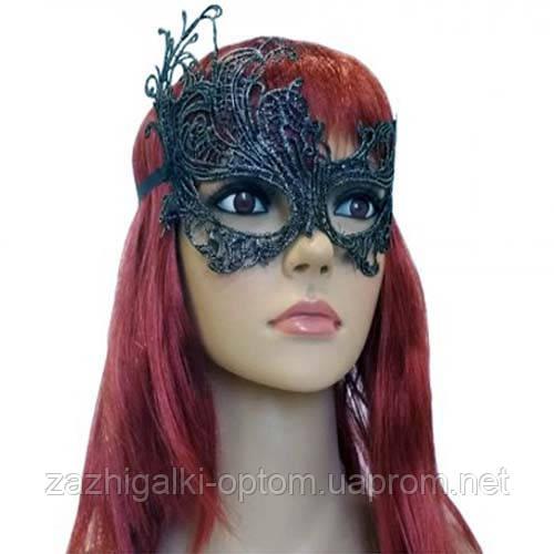 Кружевная маска Загадка жар-птица (серебро)