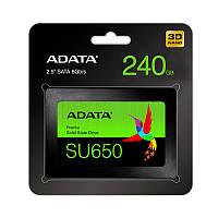 """Твердотільний накопичувач SSD 2.5"""" ADATA 240GB SU650 SATA 3D TLC"""