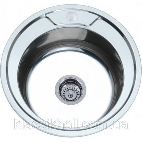 Мойка кухонная Platinum 490 Satin 0,6мм , фото 2