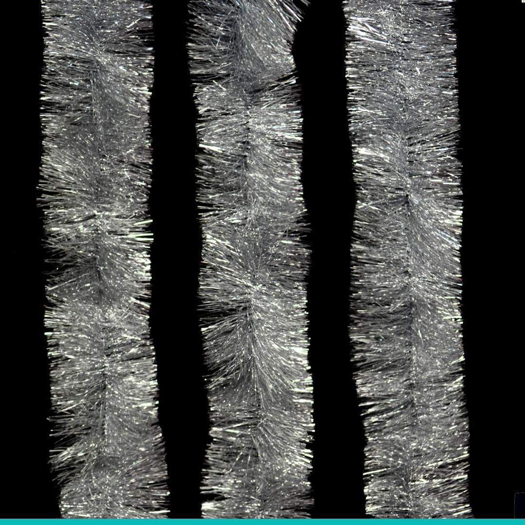 Гирлянда новогодняя серебряная (3м)