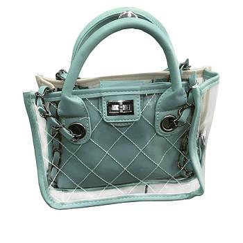 Женская сумка lady bag A Голубая D100