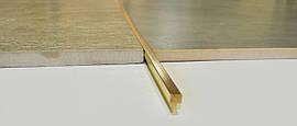 Латунный профиль для пола стыковочный Pawotex 5 мм 2.5 м MOP5/F