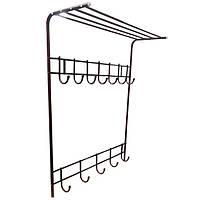 Вешалка для одежды настенная МеталлМастер «Первая» 92х75х20 см Темно-вишневый