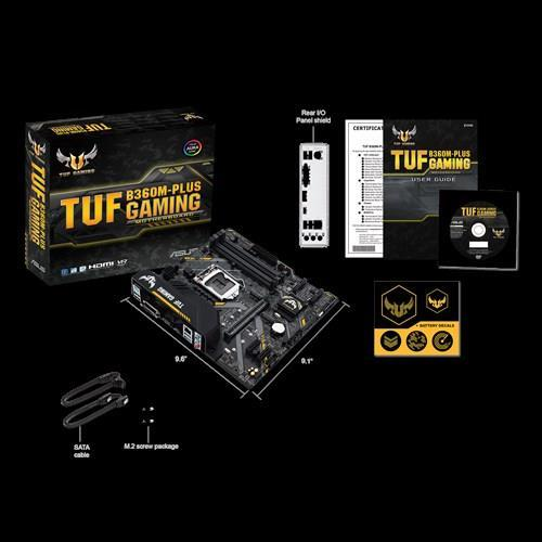 Материнcька плата ASUS TUF_B360M-PLUS_GAMING s1151 B360 4xDDR4 M.2 HDMI-DVI M.2 Socket 3 mATX