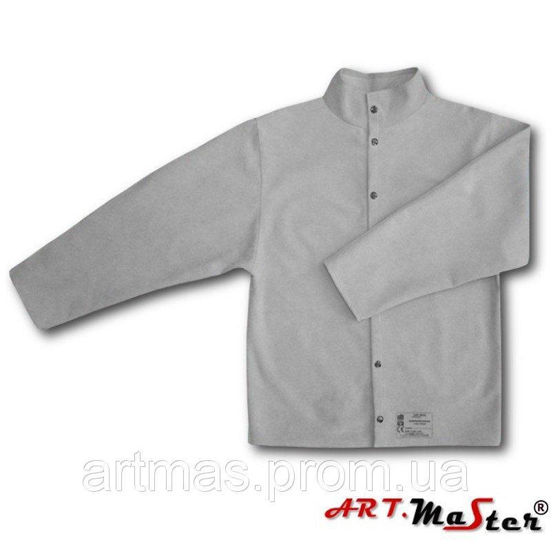 Кожаная куртка ARTMAS серого цвета KSdw