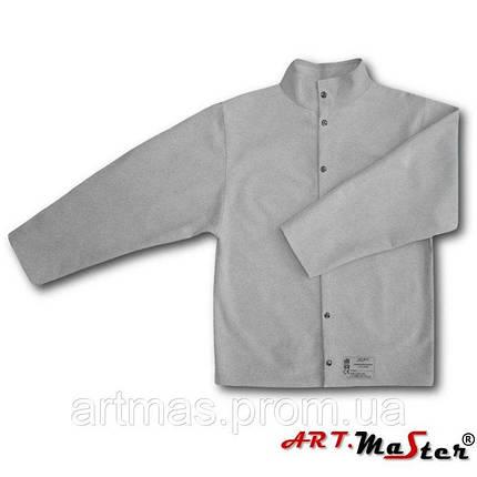 Кожаная куртка ARTMAS серого цвета KSdw, фото 2