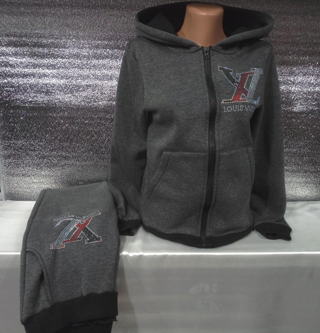 Спортивный костюм на флисе с капюшоном женский Louis Vuitton (S 42 ... 710aaff705e