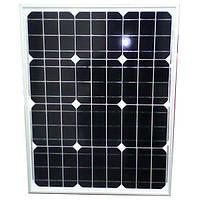 Солнечная батарея (панель) 50Вт, 12В, монокристаллическая, PLM-050M-36, Perlight Solar