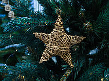 Звезда ротанговая золотая (15 см), фото 2