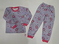 Пижама детская для девочки теплая на байке (р.110)