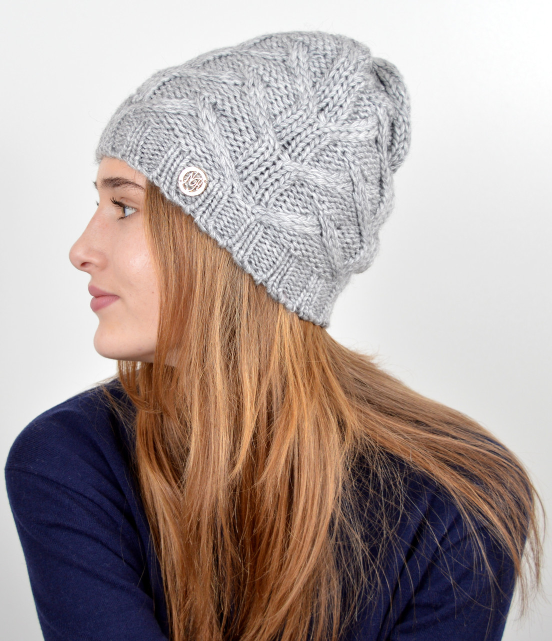 """Женская шапка """"Прага"""" Серый"""
