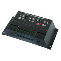 JUTA Контроллер 20А 12/24В + USB гнездо  (Модель-CM2024+USB), JUTA