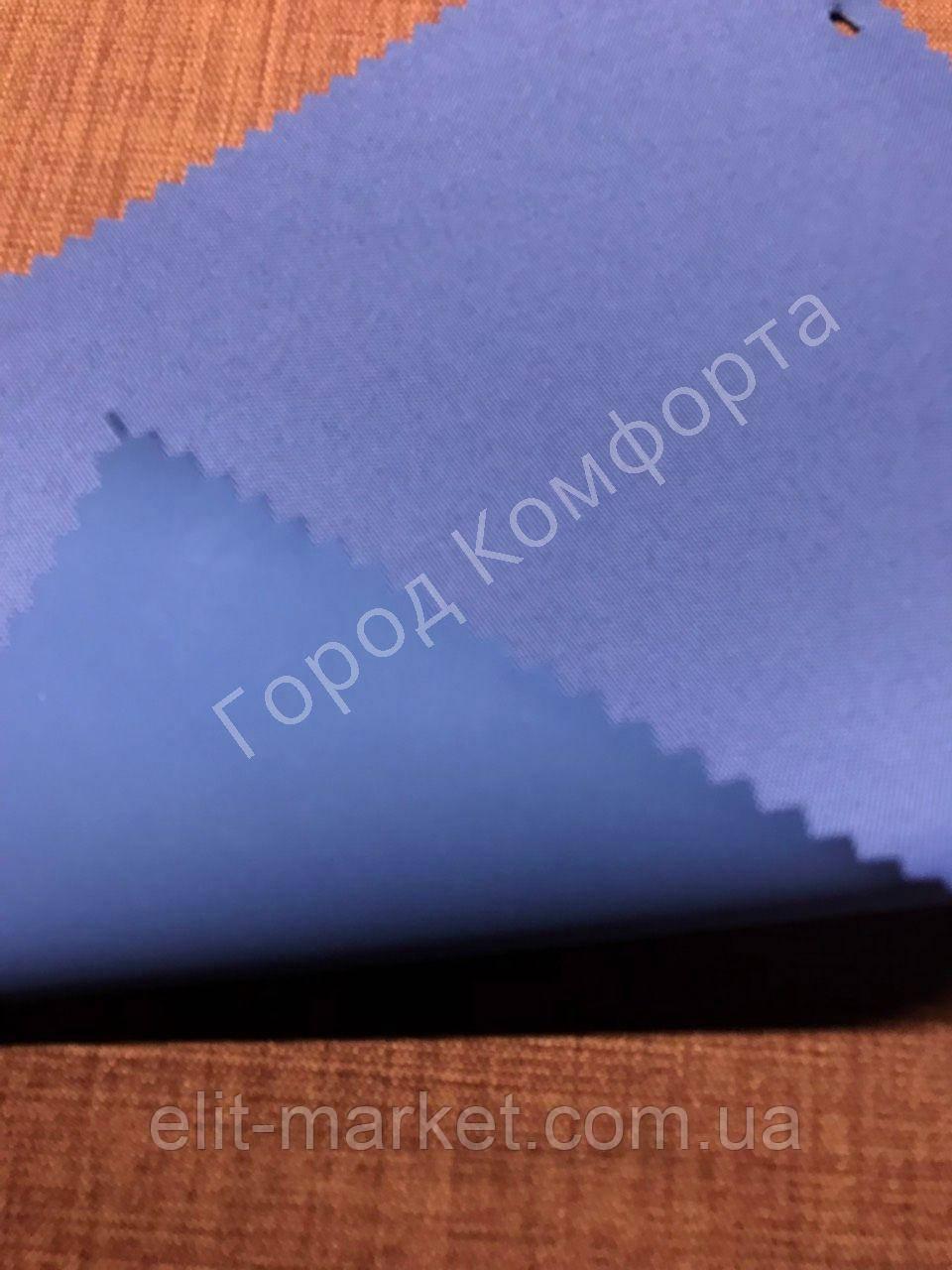 Рулонная штора Блэкаут синий