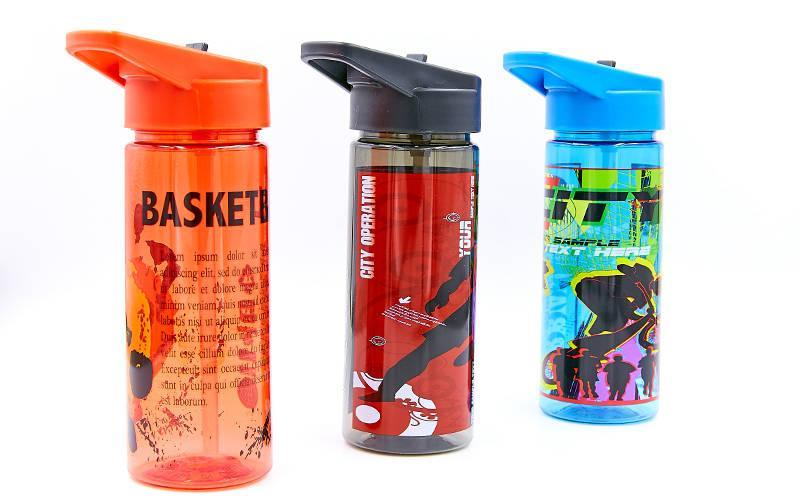 Бутылка для воды спортивная 500мл FOOTBALL. Распродажа! Оптом и в розницу!