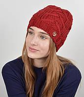 "Женская шапка ""Прага"" Бордо, фото 1"