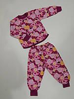 Пижама детская теплая на байке (р.80,86)