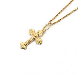 Хрестик із золота 585 проби