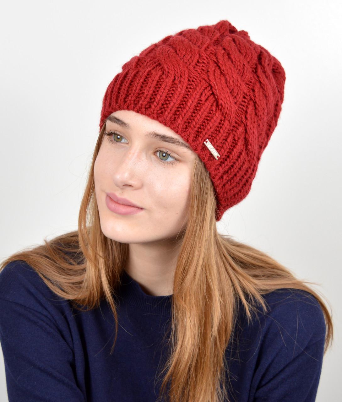 Женская шапка veilo 3326 Бордо