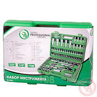 "Набор инструментов 1/2"" & 1/4"" 108ед. INTERTOOL ET-6108SP, фото 1"