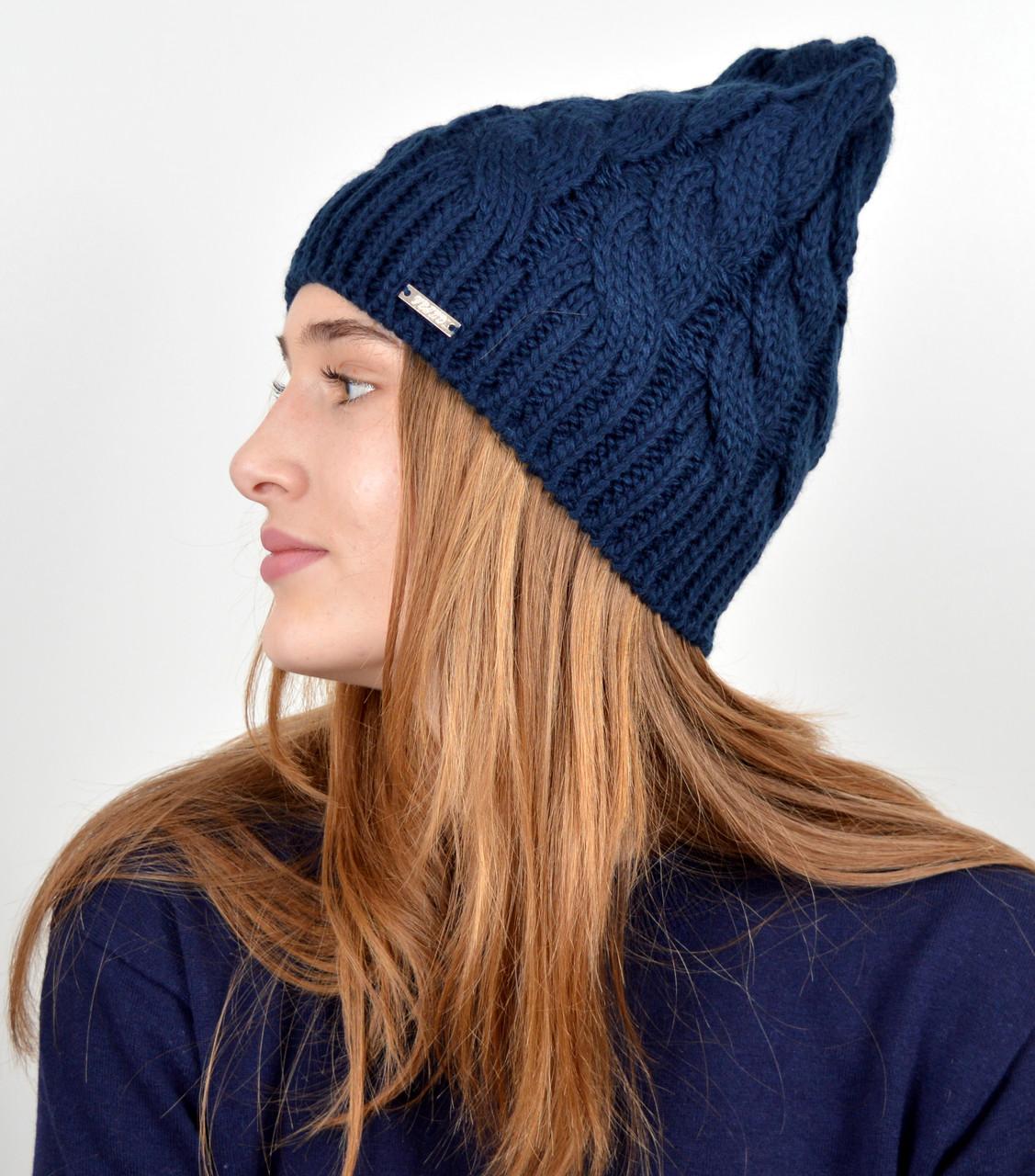 Женская шапка veilo 3326 Синий