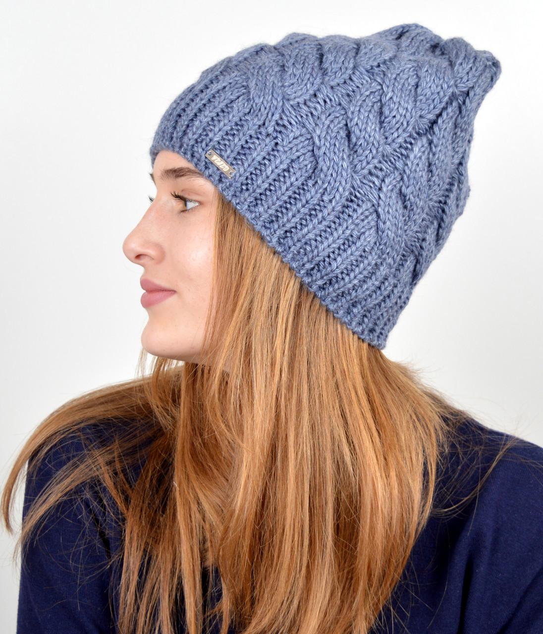 Женская шапка veilo 3326 Джинс