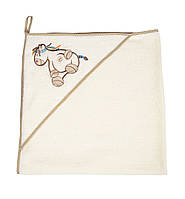 Уголок - полотенце махровый с мочалкой-рукавичкой (85 х 85 см) Womar