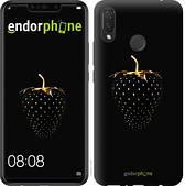"""Чехол на Huawei P Smart Plus Черная клубника """"3585u-1555-2911"""""""