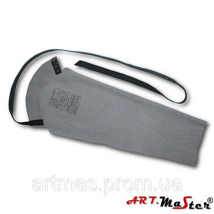 Рукав кожаный ARTMAS серого цвета, фото 2